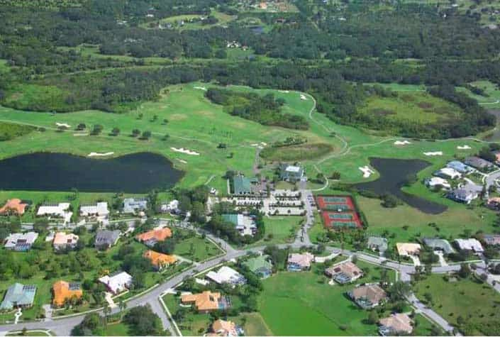 Misty Creek Homes Sarasota, Fl. - Aerial View