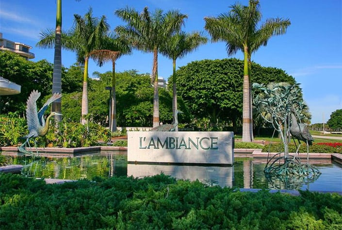 L'Ambiance Condos For Sale - Longboat Key, FL. - Sign