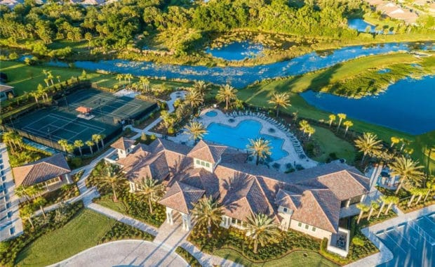 Sandhill Preserve homes in Sarasota, FL. - Gated Entry