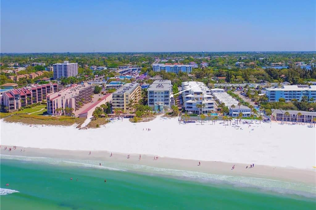 Crescent Condos in Siesta Key, FL. - Aerial View
