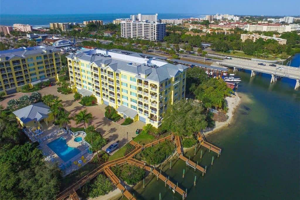 Marina Del Sol Condos in Siesta Key, FL. - Aerial View