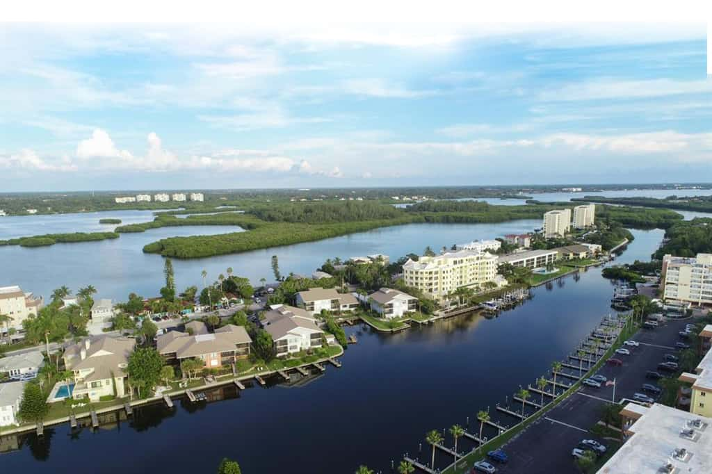 Moorings Condos in Siesta Key - Sarasota, FL. - Aerial Views